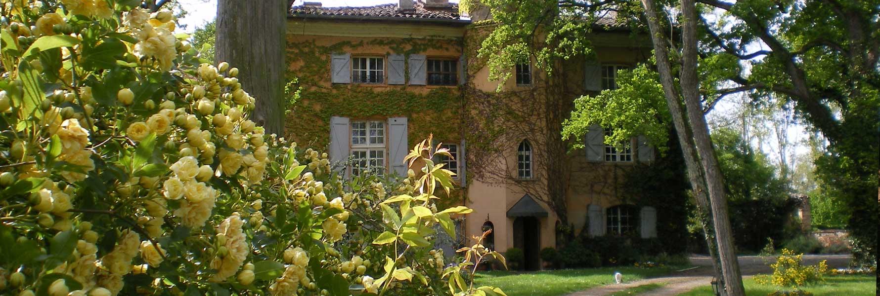 chateau de Foncoussieres, entrée principal
